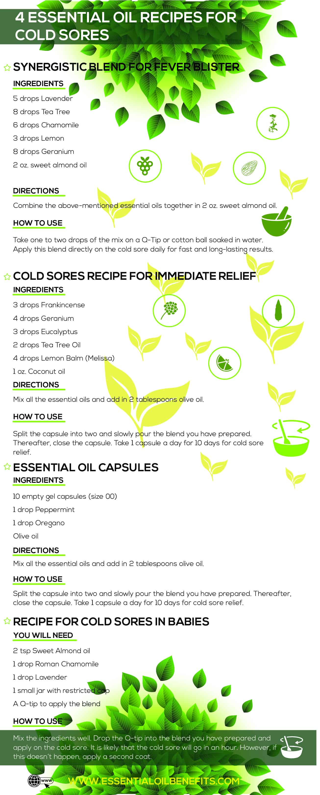 8 Essential Oil Recipes For Cold Sore Relief Essential Oil Benefits