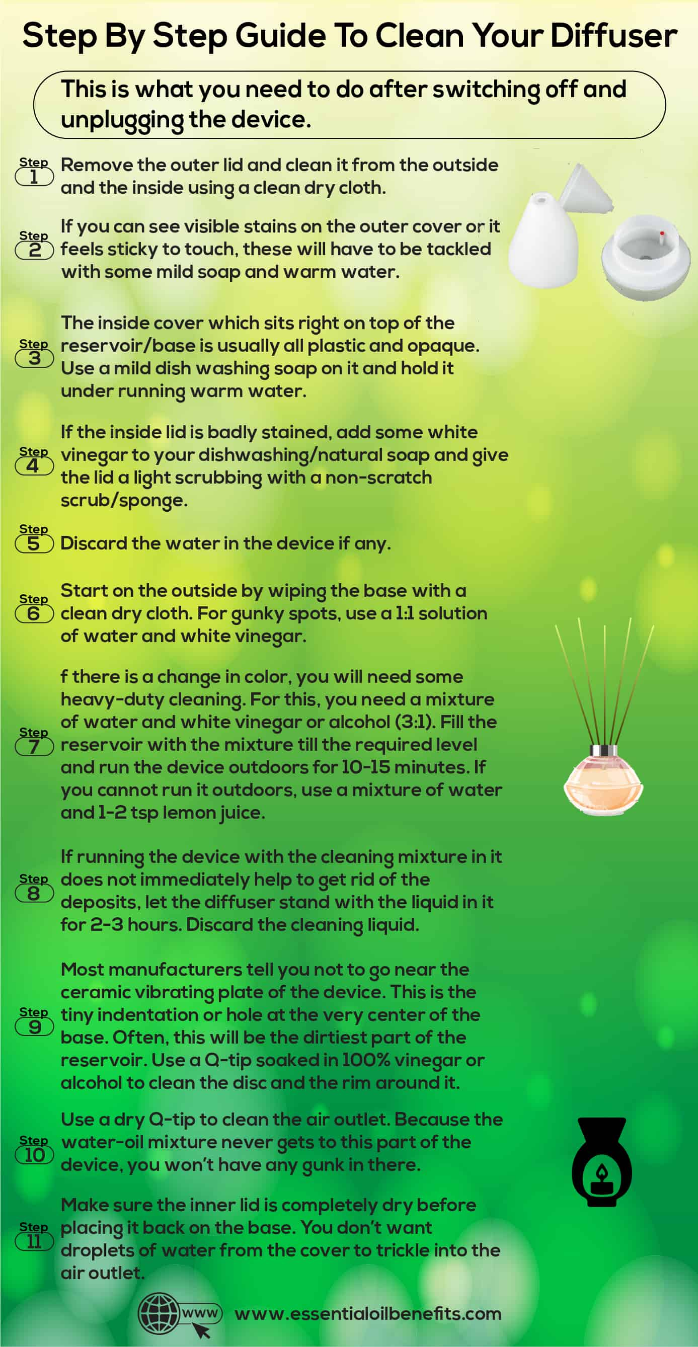 Step By Step Guide To Clean Your Essential Oil Diffuser Essential Oil Benefits
