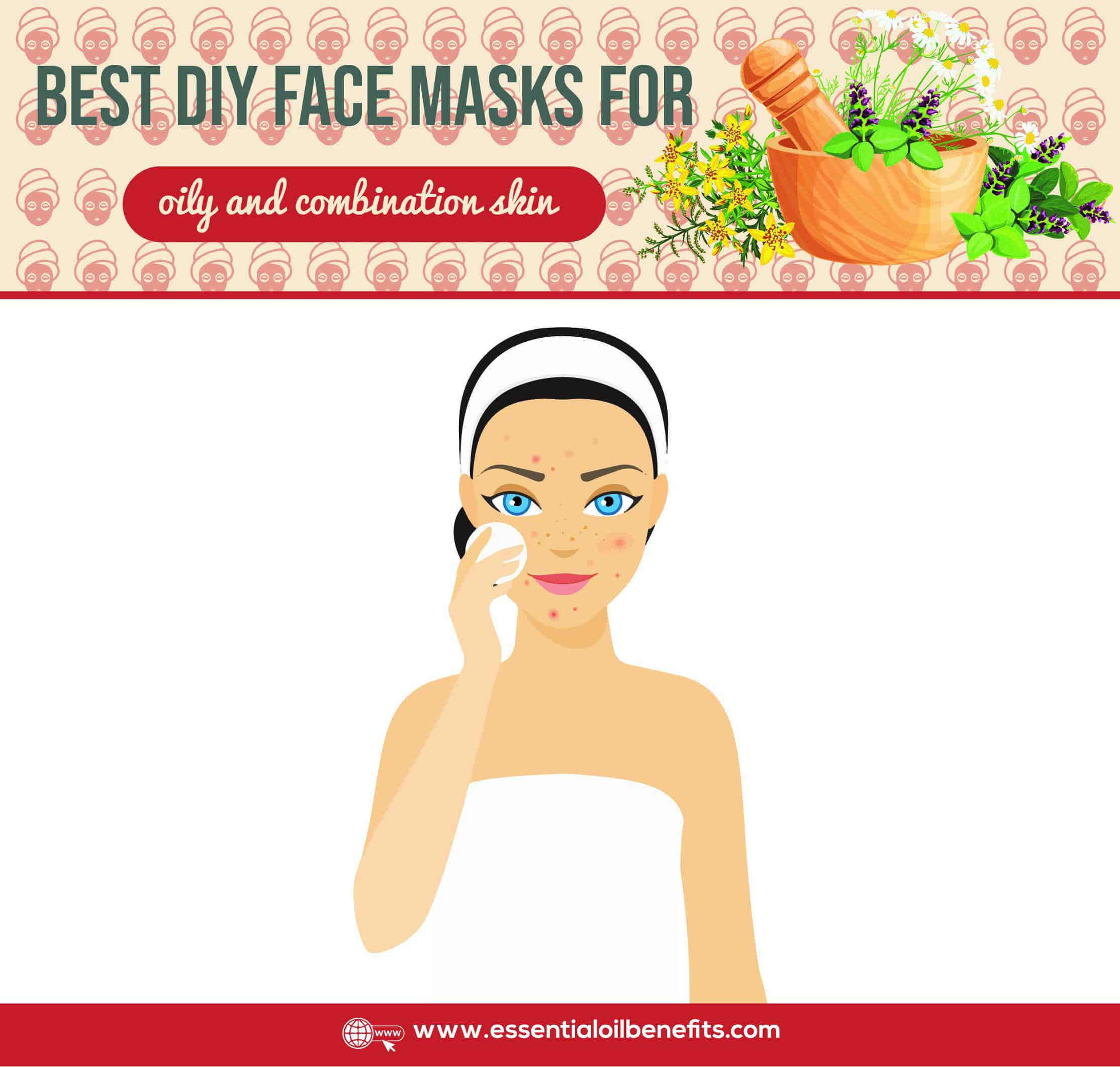 Best DIY Face Mask Recipes For All Skin Types (aging, dry, normal/sensitive, oily/combination, very dry skin) Essential Oil Benefits